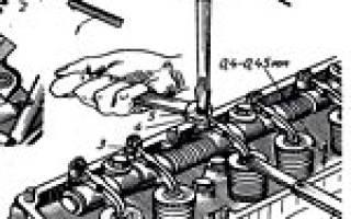 Газ 66 регулировка клапанов