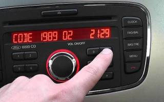 Как узнать код магнитолы форд фокус 2